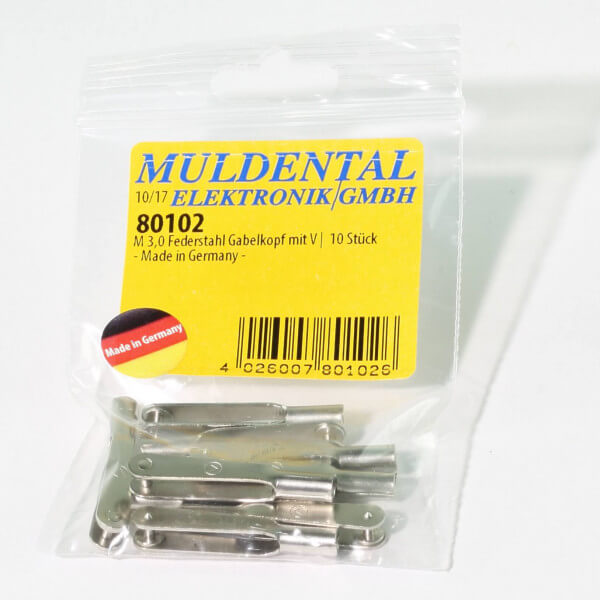 Federstahl Gabelkopf M 3 · V · 10 Stück