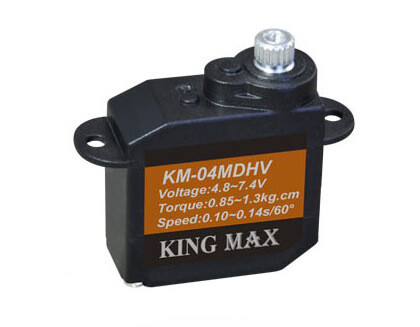 KM 04 MD · 8,3 mm digitales 7,4-V-Servo bis 13 Ncm · King Max