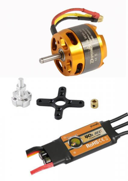 Brushless Set AL 3530-10 + 40A Comet Regler · D-Power