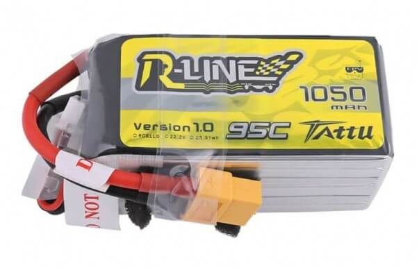 Tattu R-Line 1050 mAh 6S Lipo (22,2V) 95 C · XT60