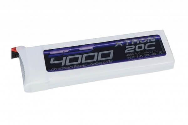 SLS Xtron 4000 mAh 2S Lipo (7,4V) 20/40 C · XT60