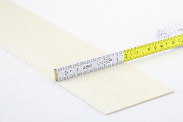 1,5 mm Balsa Brettchen einzeln · 1000 mm x 100 mm