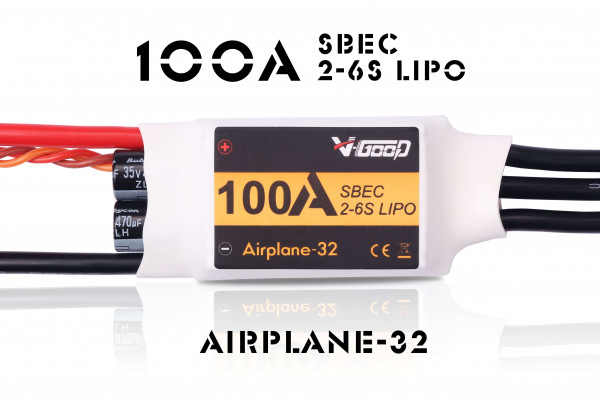 Airplane-32 · 6S ·100 A SBEC · Brushless Regler · V-GooD