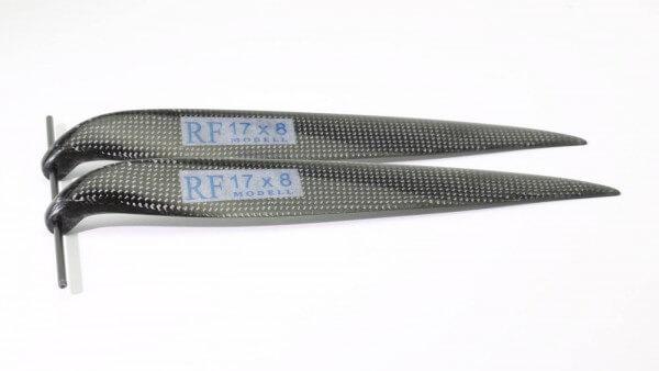"""CFK Klappluftschraube 17"""" x 8"""" · 8 mm Hals · RFM Freudenthaler"""