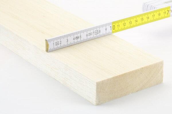 50,0 mm Balsa Bohle einzeln · 1000 mm x 100 mm