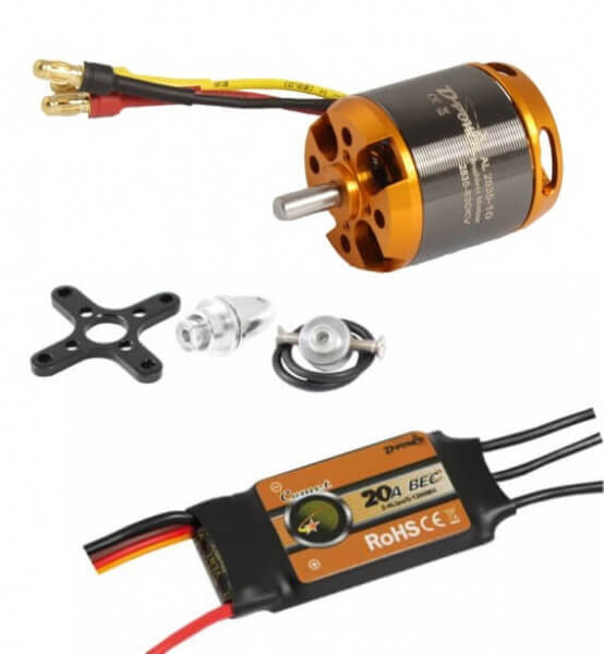 Brushless Set AL 2835-10 + 20 A Comet Regler · D-Power