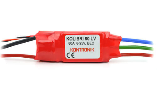 Kolibri 60 LV Brushless-Regler · Kontronik Drives
