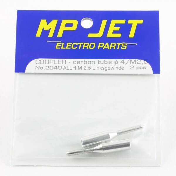 Schubstangenanschluss M 2,5 Linksgewinde · für Ø 4,0 mm · 2er-Pack · MP-Jet