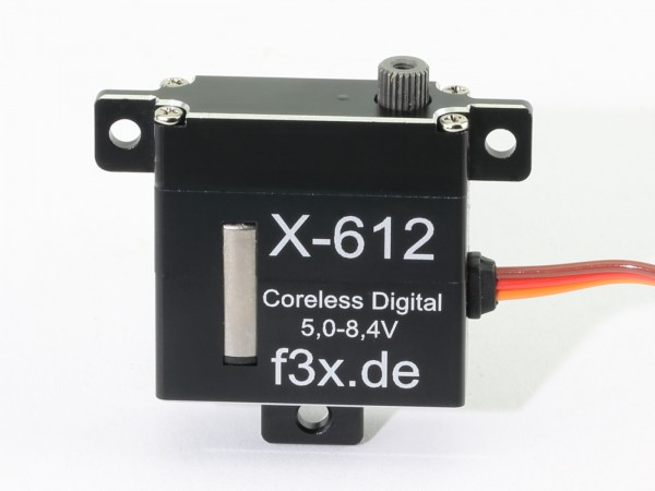X-612 · 10 mm HV-Servo bis 85 Ncm · 0,09 s · Coreless Digital