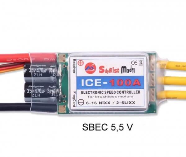 ICE · 6S · 100A · SBEC 5,5 V · Brushless Regler · Sunrise Model