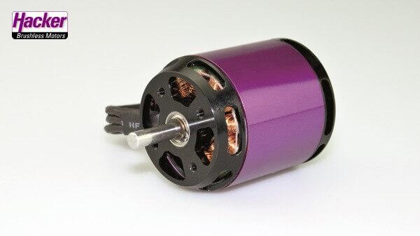 A40-12L V4 410 kv · 14-Pol · Brushlessmotor · 4S-5S · Hacker