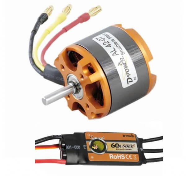Brushless Set AL 42-07 + 60 A Comet Regler · D-Power