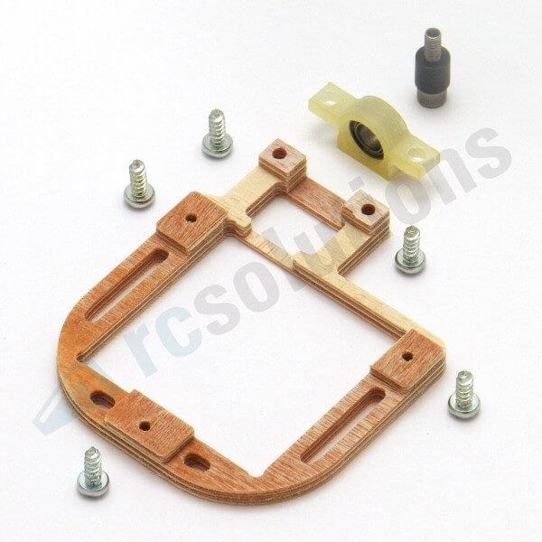 Holz-Servorahmen mit Gegenlager · links · für KST X10, X-911 · RCsolutions