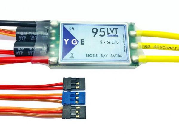YGE 95 LVT · Telemetrie Brushless Regler von YGE