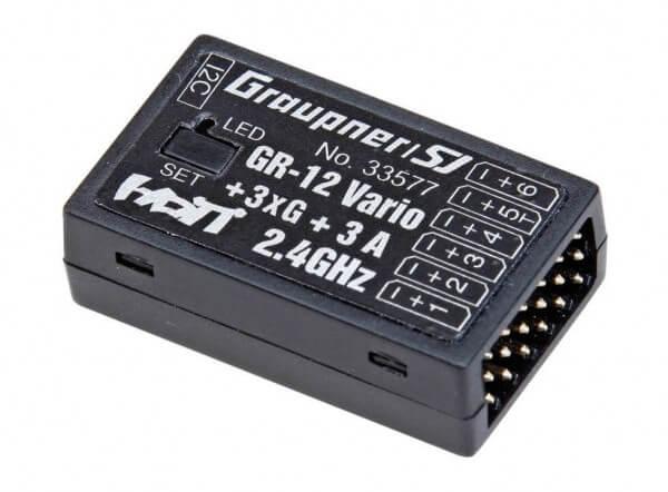Empfänger GR-12 HoTT + 3-Achs Gyro + A-Meter + Vario · 6-Kanal · Graupner