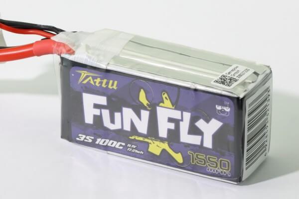 Tattu Funfly 1550 mAh 3S Lipo (11,1V) 100C · XT60