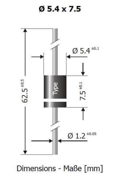 Schottky-Diode SB 1260 · 12 A · 60 V · Diotec Semiconductor