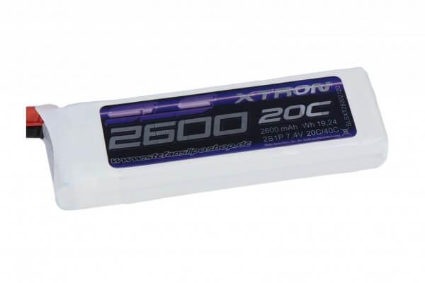 SLS Xtron 2600 mAh 2S Lipo (7,4V) 20/40 C · XT60