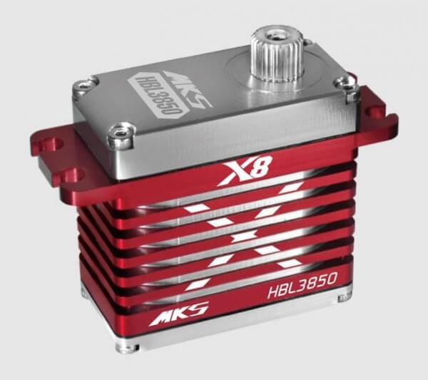 MKS HBL 3850 X8 · 20 mm digitales Brushless-HV-Servo bis 570 Ncm