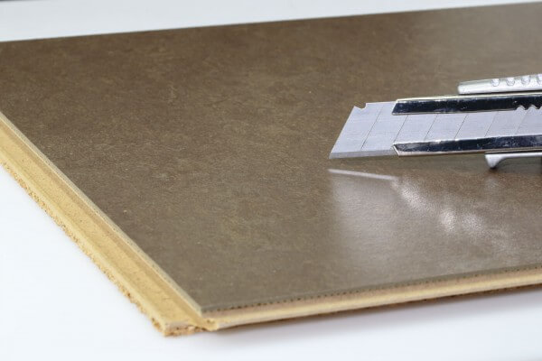 Linoleum Bauunterlage Nougat Ziro Linoplus 300 x 300 mm Kasetten mit Klicksystem