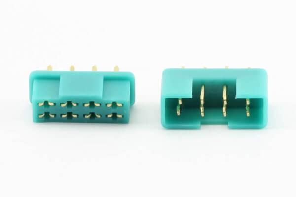 1 Paar Servosteckverbinder grün 8-polig Stecker und Buchse