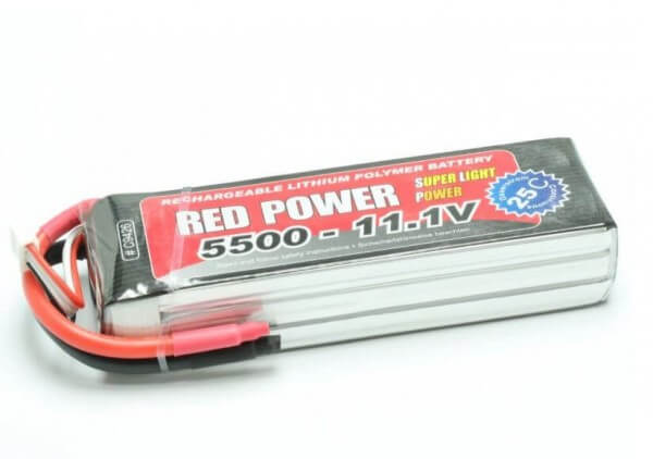Red Power SLP 5500 mAh 3S Lipo (11,1V) 25 C · Pichler