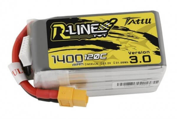 Tattu R-Line 3.0 · 1400 mAh 6S Lipo (22,2V) 120 C · XT60
