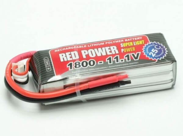 Red Power SLP 1800 mAh 3S Lipo (11,1V) 25 C · Pichler