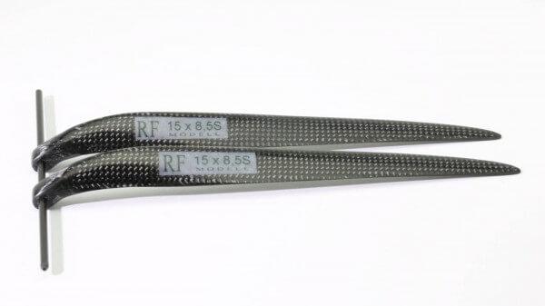 """CFK Klappluftschraube 15"""" x 8,5"""" schmal · 8 mm Hals · RFM Freudenthaler"""