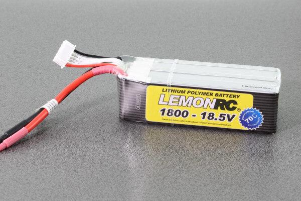 LemonRC 1800 mAh 5S Lipo (18,5V) 70/140 C · Pichler