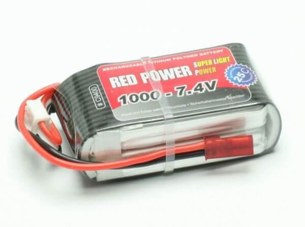 Red Power SLP 1000 mAh 2S Lipo (11,1V) 25 C · Pichler