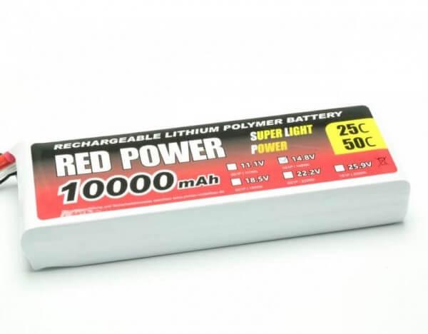 Red Power SLP 10000 mAh 4S Lipo (14,8V) 25 C  · Pichler