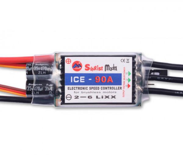 ICE 90 A einstellbares 12A-SBEC · Brushless Regler · Sunrise Model