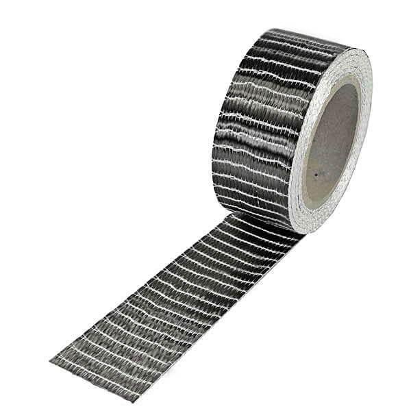 Kohlefaserband 250 g/m² 3k UD · 25 mm breit  · 5 m Rolle