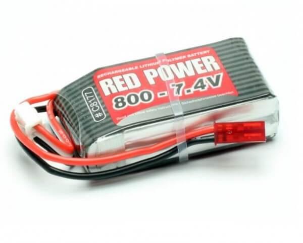 Red Power SLP 800 mAh 2S Lipo (7,4V) 25 C · Pichler
