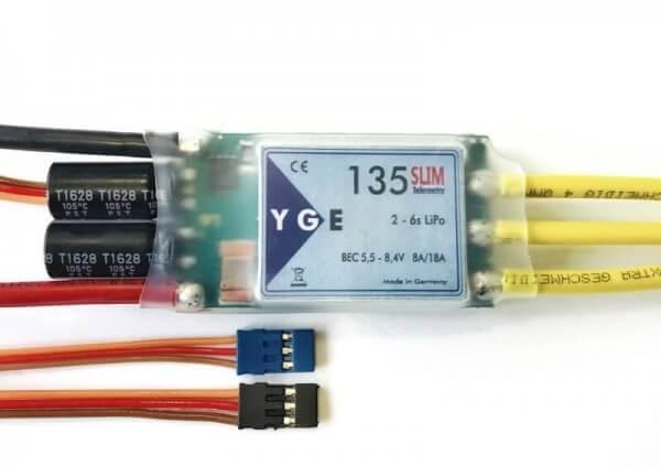YGE 135 Slim Telemetrie · 6S · BEC · Brushless Regler von YGE