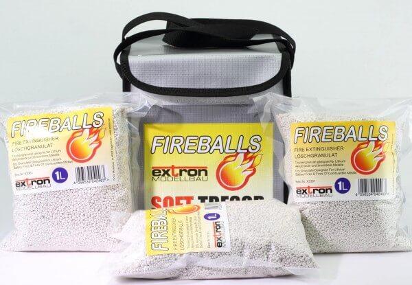 Fireballs Soft Tresor inkl. 3 x 1 Liter Fireballs · Extron Modellbau