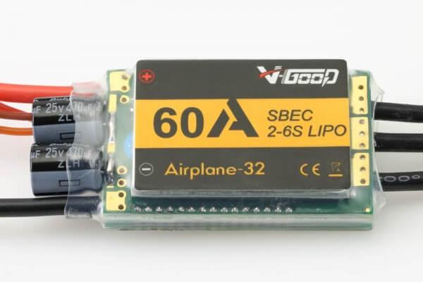 Airplane-32 · 6S · 60 A · 7.8 V SBEC · Brushless Regler · V-GooD