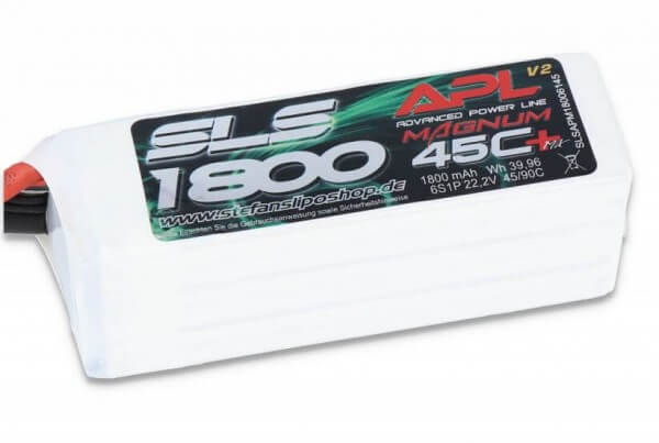 SLS APL MAGNUM V2 1800 mAh 6S Lipo (22,2V) 45 C · XT60