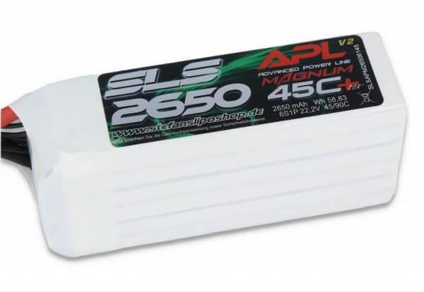 SLS APL MAGNUM V2 2650 mAh 6S Lipo (22,2V) 45 C · XT60