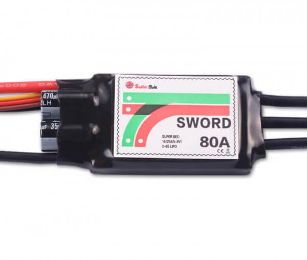 Sword 80A SBEC · Brushless Regler · Sunrise Model