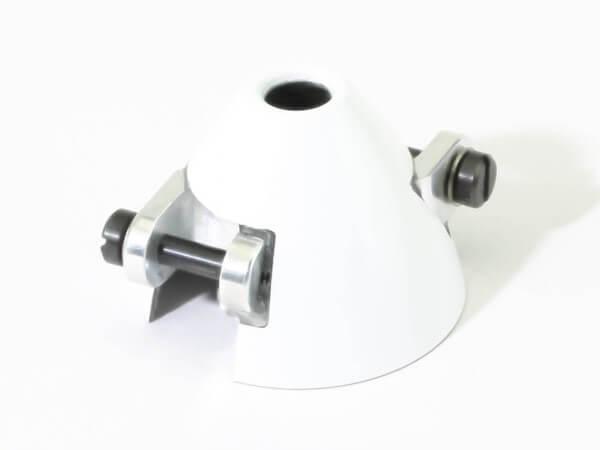 Ø 32 mm RFM CFK-Spinner weiß · Bohrung Ø 3,17 mm · versetzt · mit Kühlloch · 0° verdreht