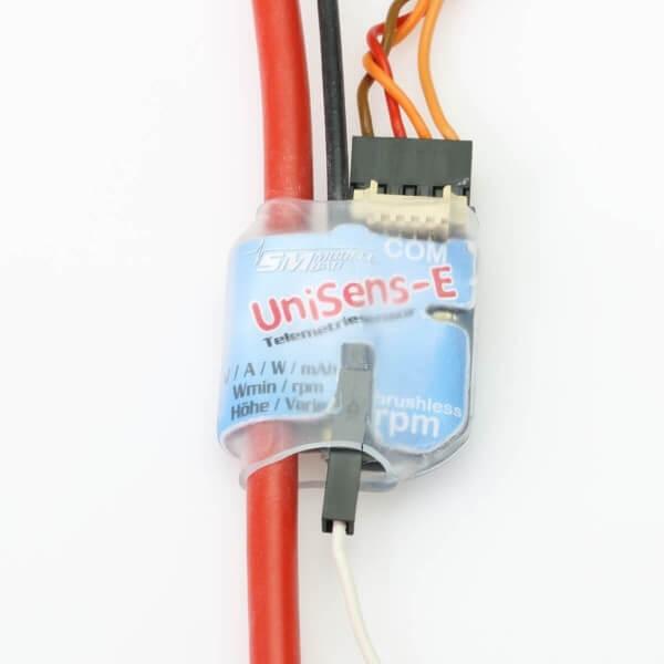 UniSens-E mit 4 mm² Silikonkabel  · SM-Modellbau