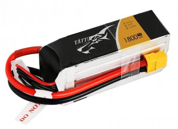 Tattu 1800 mAh 5S Lipo (18,5 V) 75 C · XT60