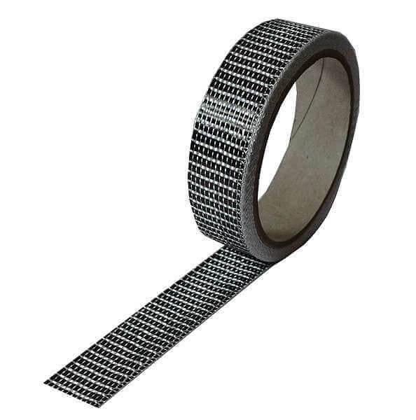Kohlefaserband 125 g/m² 3k UD · 25 mm breit  · 5 m Rolle