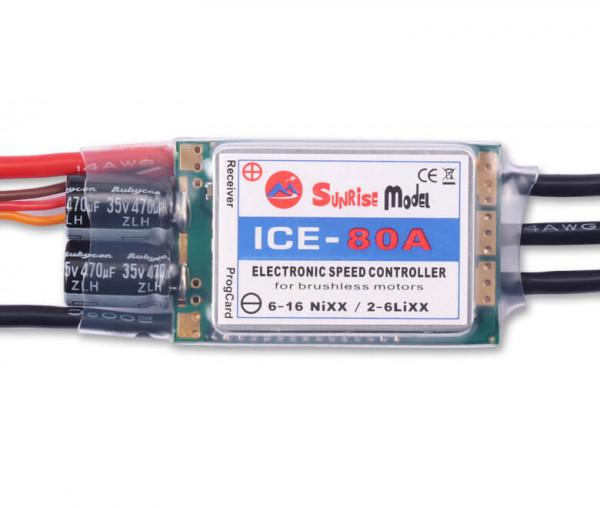 ICE · 6S · 80A · SBEC 7,2 V · Brushless Regler · Sunrise Model
