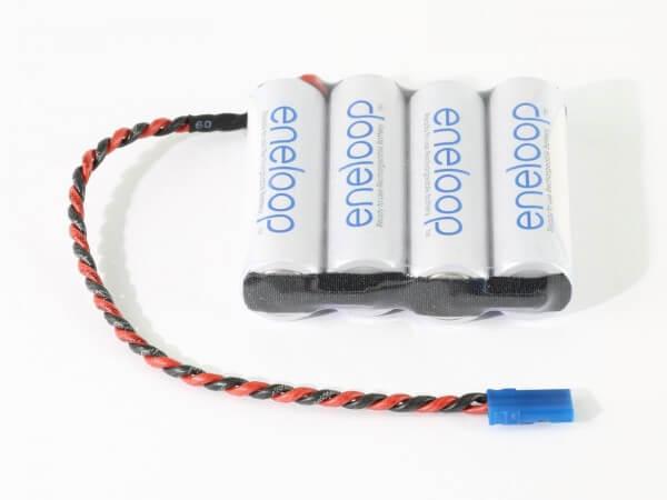 4,8 V Empfänger-Akku parallel · Eneloop NiMH · 1900 mAh · 4 Zellen · Graupner JR