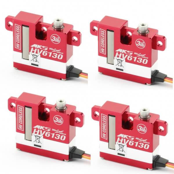 4er Set MKS HV 6130 · 10 mm digitales HV-Servo bis 81 Ncm
