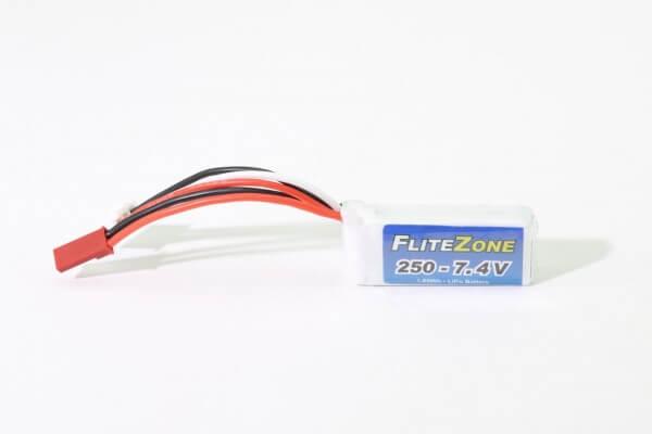 FliteZone 250 mAh 2S Lipo (7,4V) 25 C · BEC-Stecker