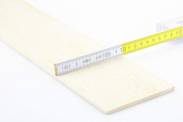 5,0 mm Balsa Brettchen einzeln · 1000 mm x 100 mm